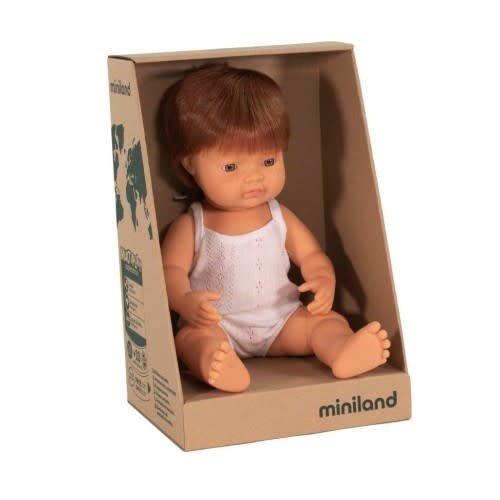 Miniland Minland Caucasian Boy Red Head 38cm
