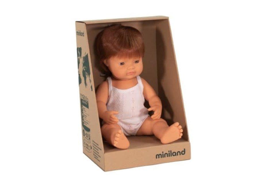 Minland Caucasian Boy Red Head 38cm