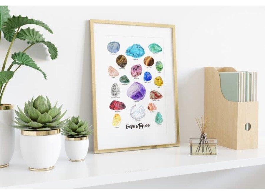 Gemstones - A3 Poster