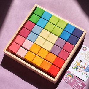 Skandico 36 Pastel Cube Blocks