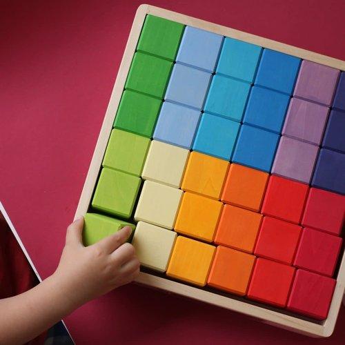 Skandico 36 pce Rainbow Cube Blocks