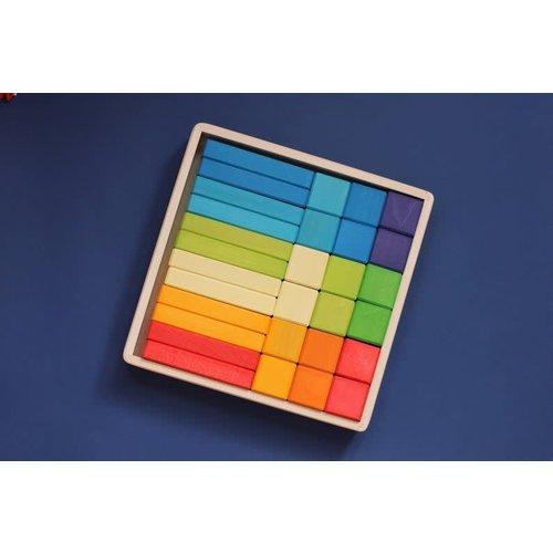 Skandico - Rainbow Blocks & Bricks 18pce