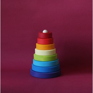 Cone Rainbow stacker - Violet Base