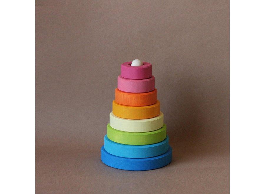 Cone Rainbow stacker - Blue Base