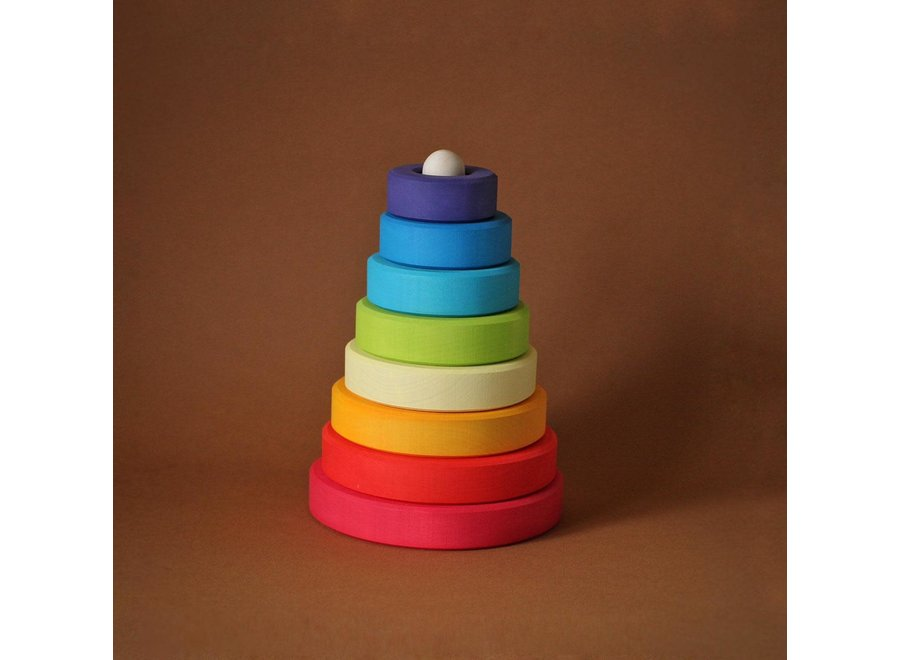 Cone Rainbow stacker - Red Base