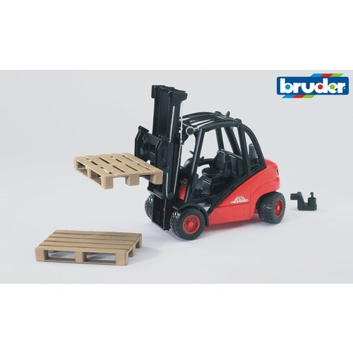 Bruder Linde Fork Lift H30D w/2 pallets