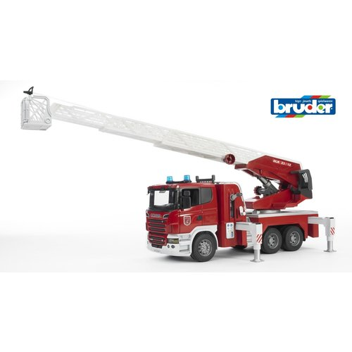 Bruder Scania Fire Engine w Slewing Ladder