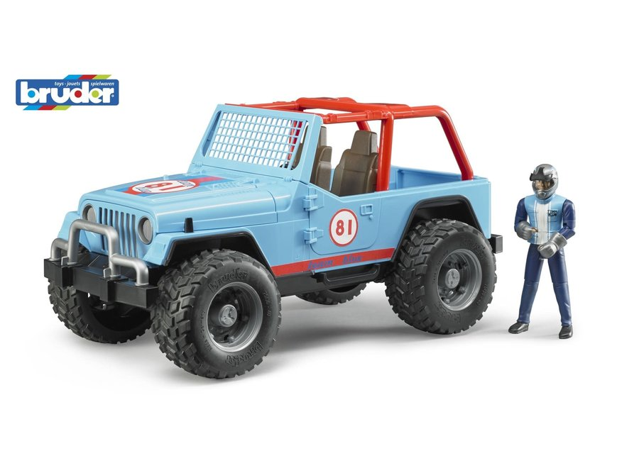 Bruder Jeep Wrangler Team Blue 81 w/Man
