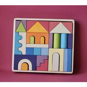 Skandico Unicorn House Block Set
