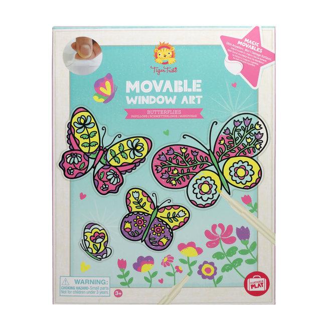 Movable Window Art - Butterflies