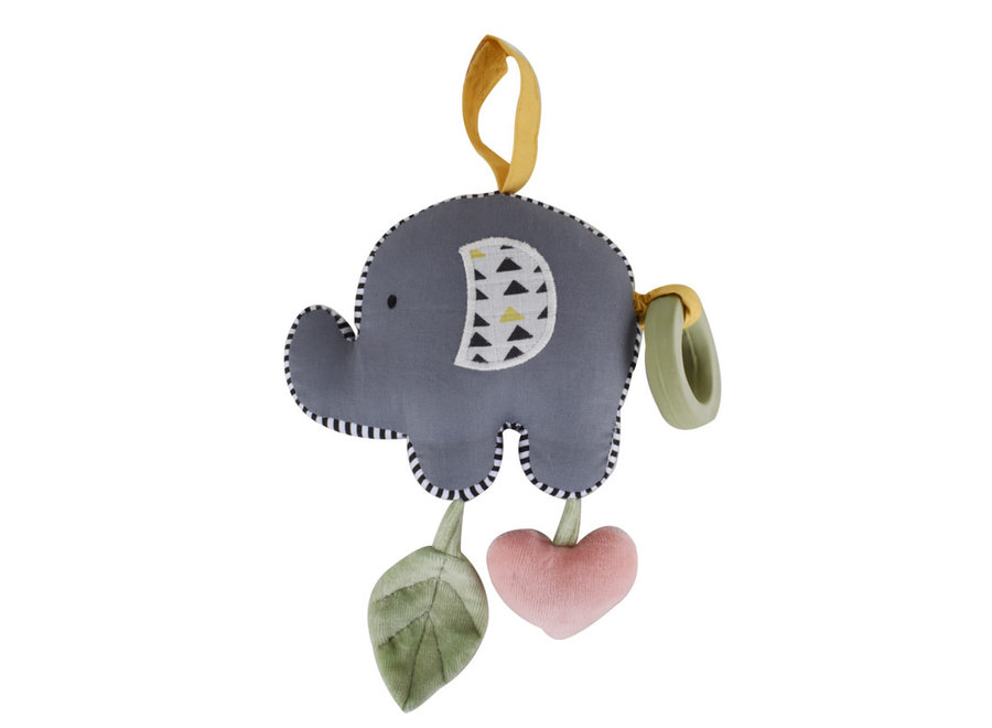 Elephant Vibrating Toy with Rubber Teether