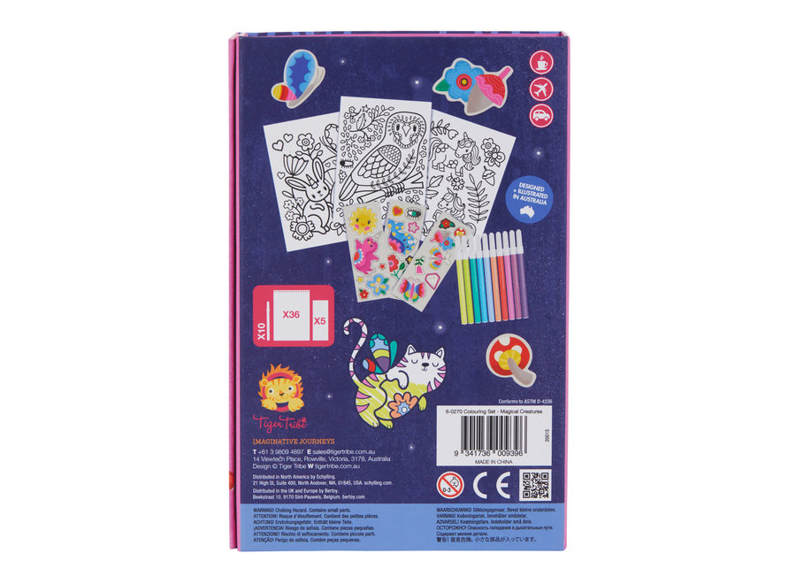 Colouring Set - Magical Creatures