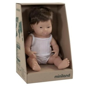 Miniland Caucasian Doll Down Syndrome Boy 38cm