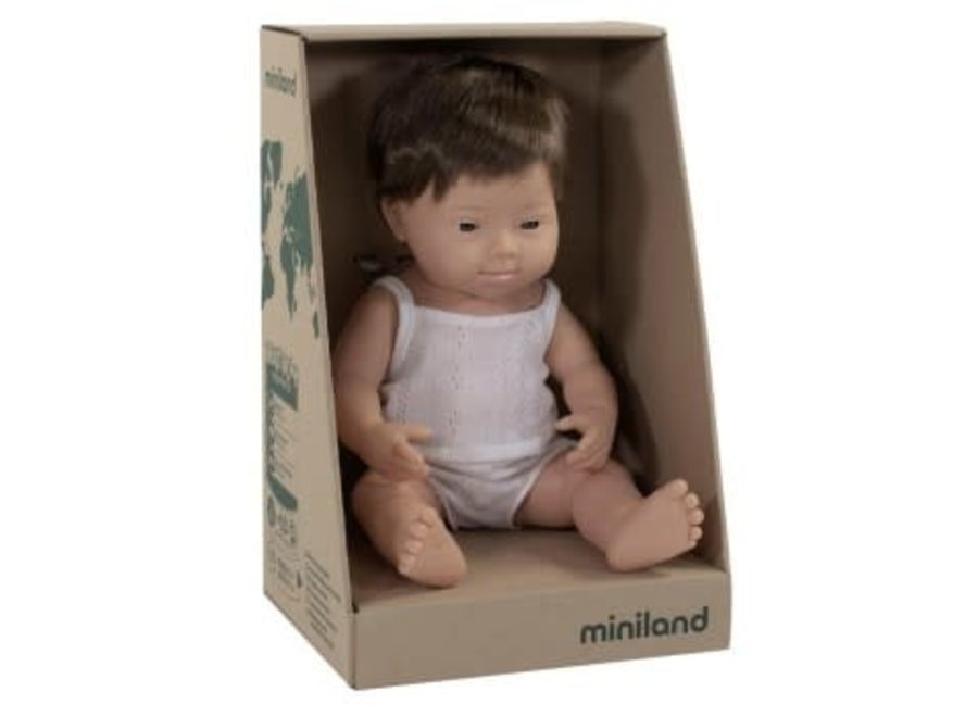 Caucasian Doll Down Syndrome Boy 38cm