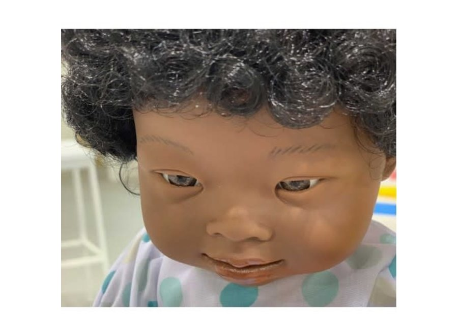 African Doll Down Syndrome Girl 38cm