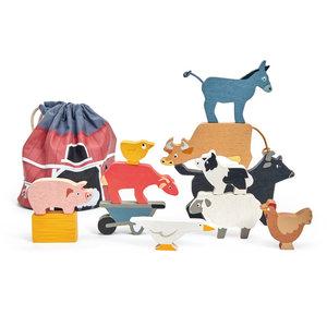 Tender Leaf Stacking Farmyard Animals with Bag