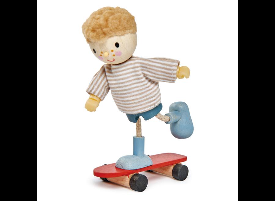 Edward with Flexible Limbs & His Skateboard