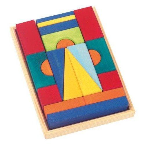 Gluckskafer Wooden Blocks - Tuscan Small w Tray 20 pcs