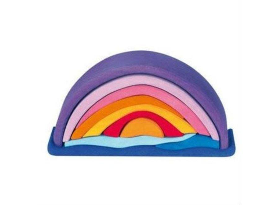 Gluckskafer Wooden Blocks - Sunset Rainbow Arch 10 pcs purple