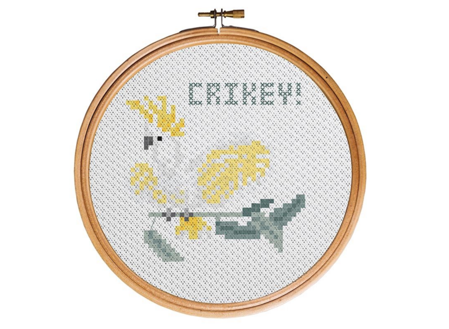 Aus Collection Cross Stitch Kit Crikey!