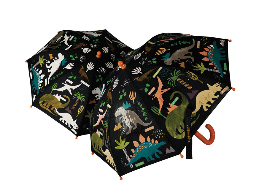 Floss & Rock Colour Changing Umbrella – Dinosaur