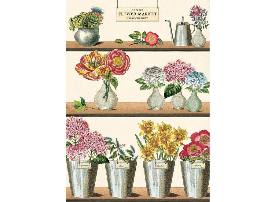 Cavallini Poster/Gift Wrap – Flower Market