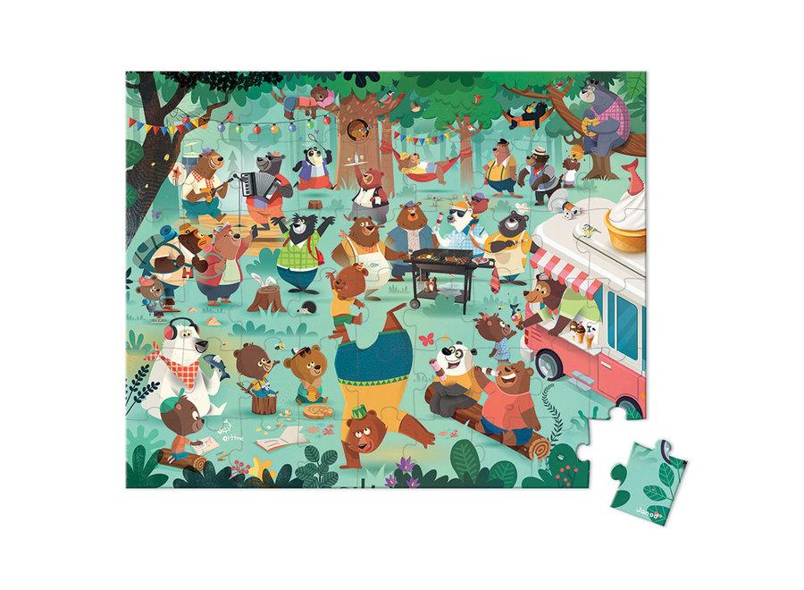Janod 54 piece Bears Puzzle