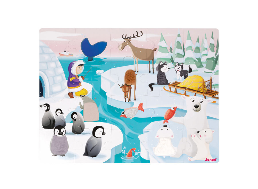 Janod Tactile Puzzle Ice 20pc