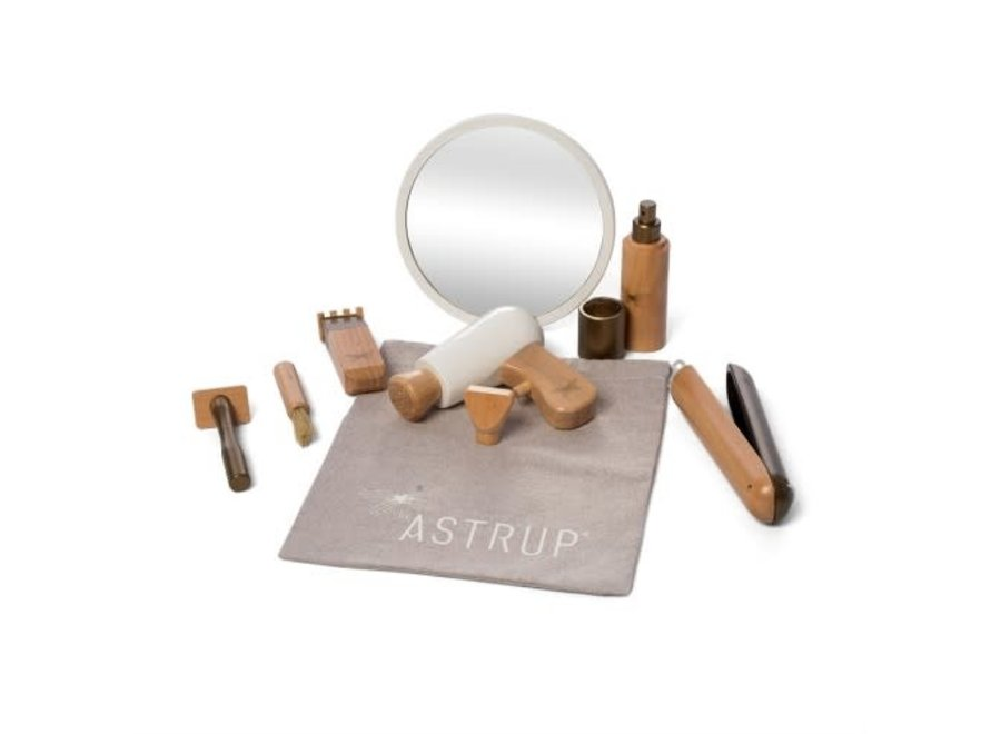 Astrup Wooden Role Play Hairdressing Set, 9 piece