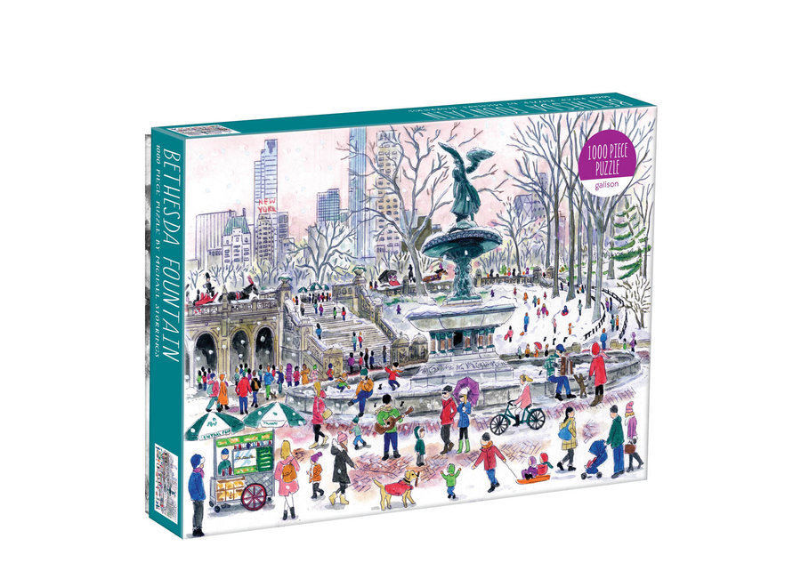 Galison 1000 Pc Puzzle Michael Storrings – Bethesda Fountain