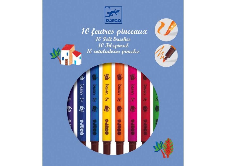10 Felt Brushes Classic