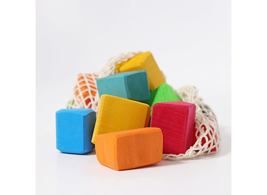 Grimms 15pcs coloured large blocks