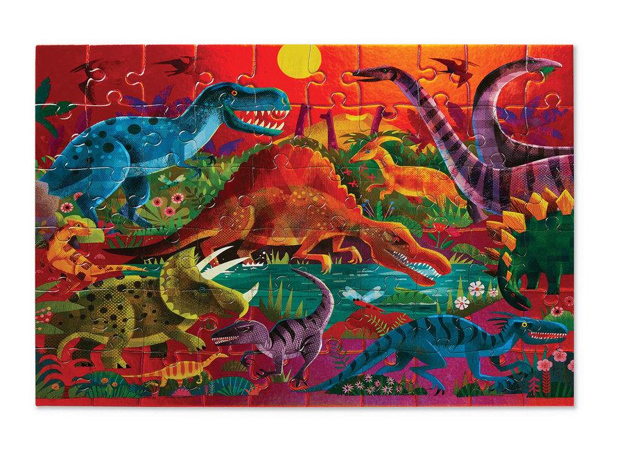 Foil Puzzle 60 pc - Dazzling Dinos