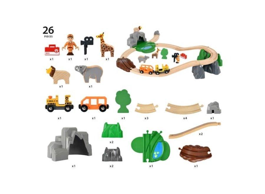 BRIO Set - Safari Adventure Set, 26 pieces