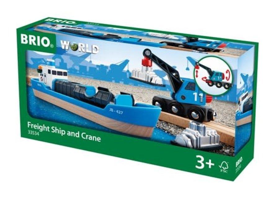 Brio Container & Crane Wagon, 4 pieces