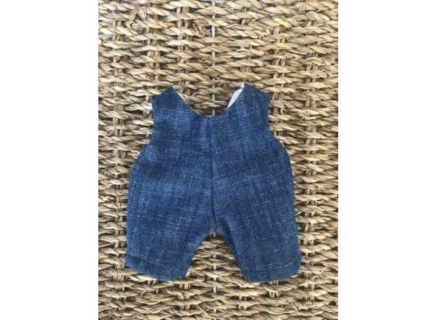 Blue Denim Overalls - 21cm Doll