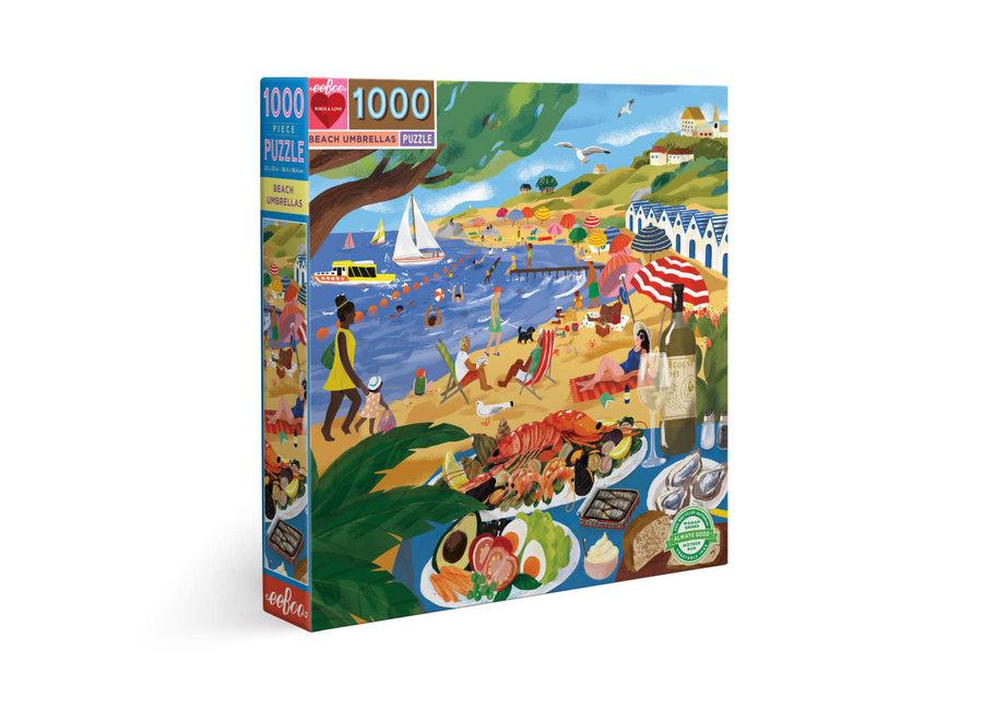 eeBoo 1000 Pc Puzzle – Beach Umbrellas
