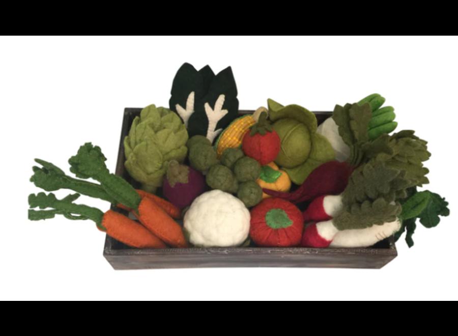 Felt Crated Vegetable Set