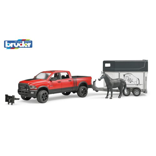 BR1:16 RAM 2500 Power Wagon with horse trailer and 1 horse