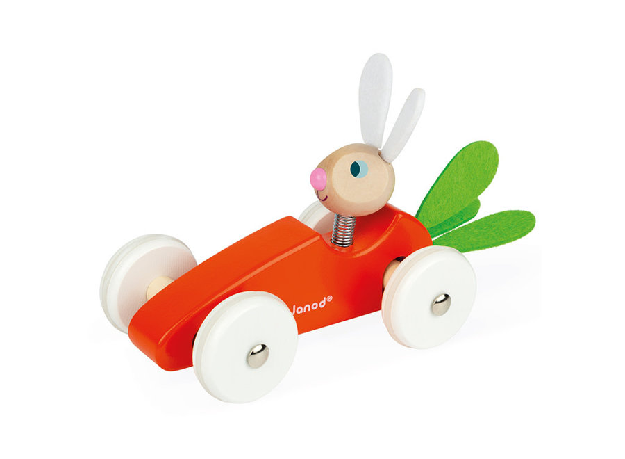 Janod - Rabbit Carrot Car