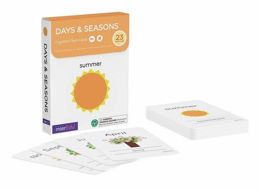 Cognitive Flash Cards - Days & Seasons