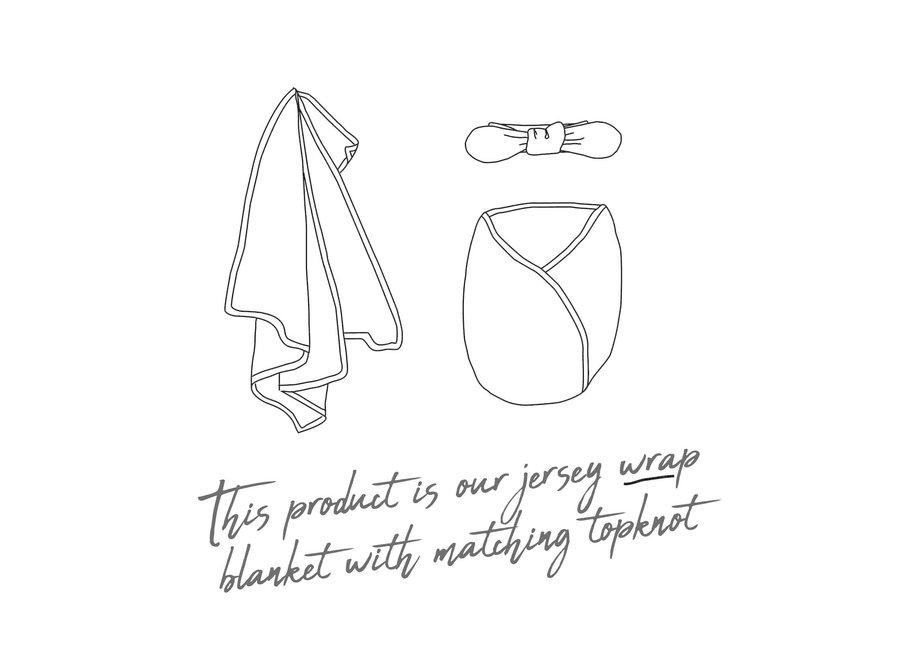 Belle Baby Jersey Wrap & Topknot Set