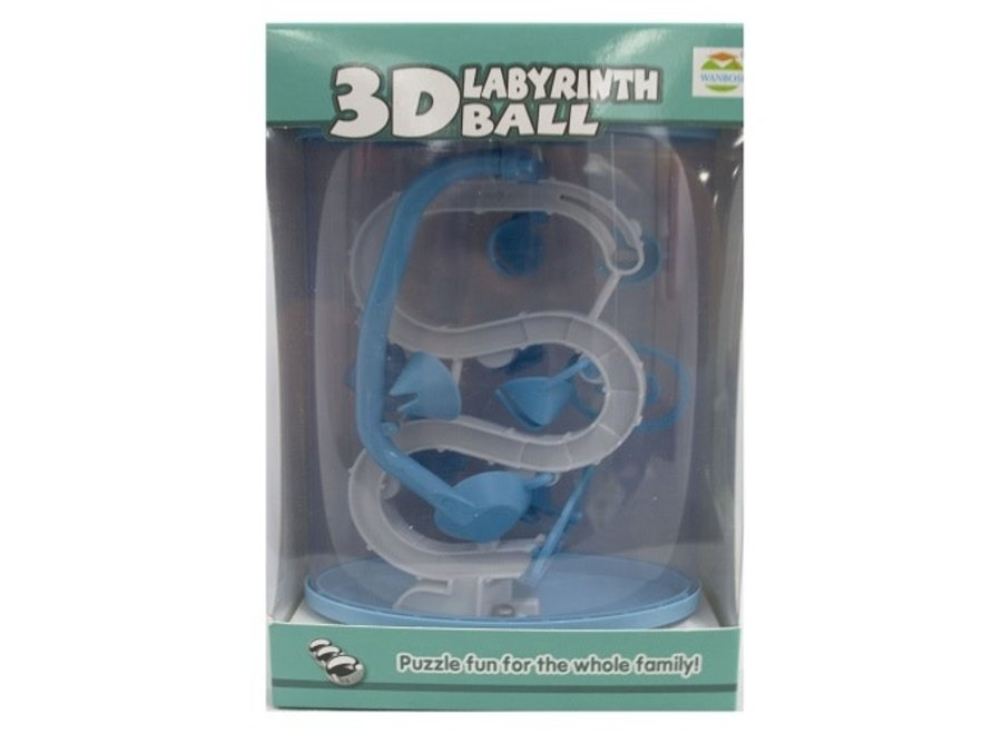 3D Labyrinth Puzzle Blue