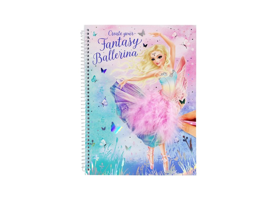 Create Your Fantasy Ballerina Colouring Book