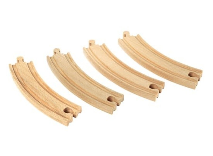 BRIO Tracks - Large Curved Tracks, 4 pieces