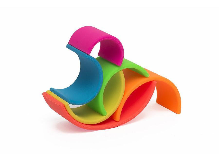 dena Toys - Silicone  Rainbow Neon 6pc