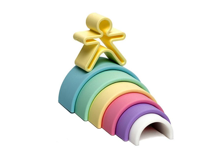 dena Toys - Silicone Rainbow Pastel 6pc