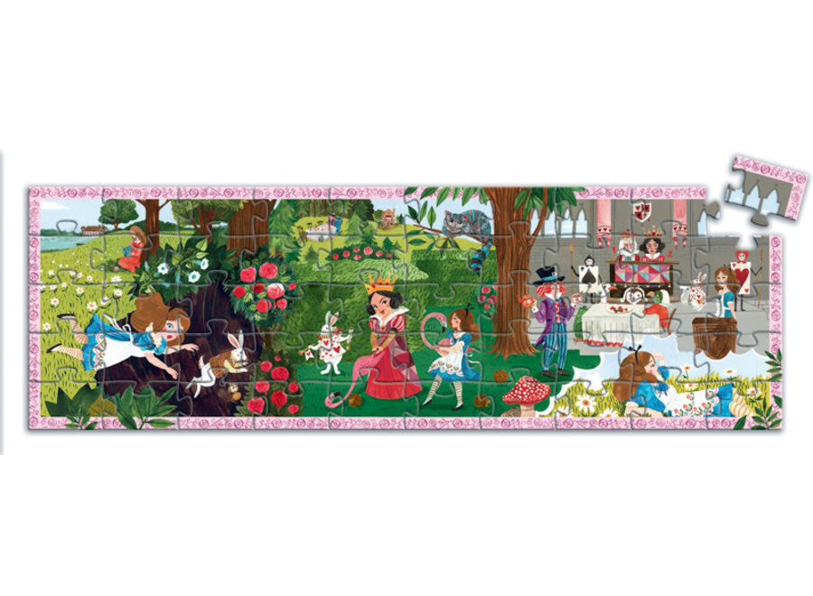 Alice in Wonderland 50pc Silhouette Puzzle