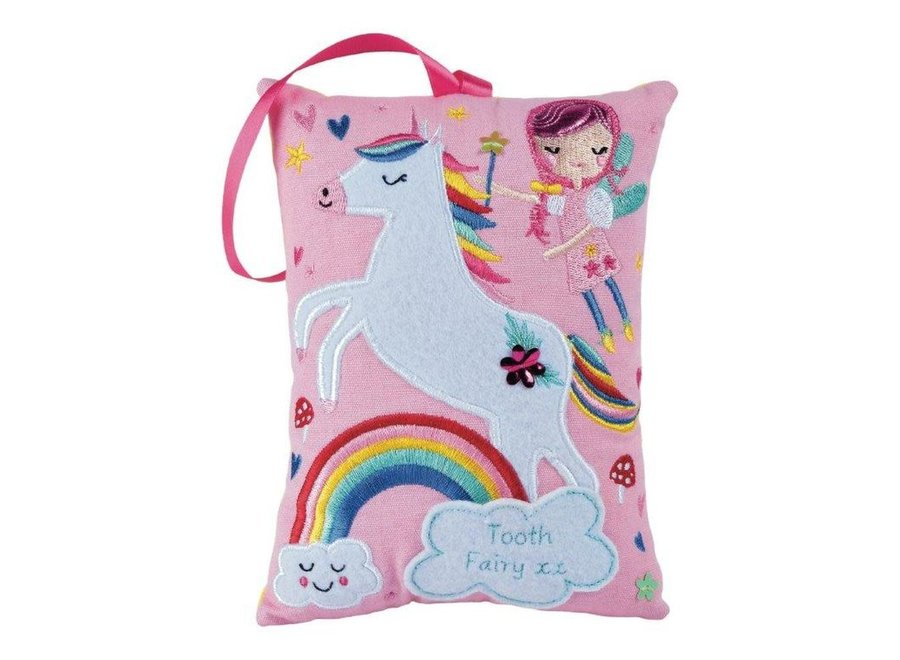 Floss & Rock Tooth Fairy Cushion – Rainbow Fairy