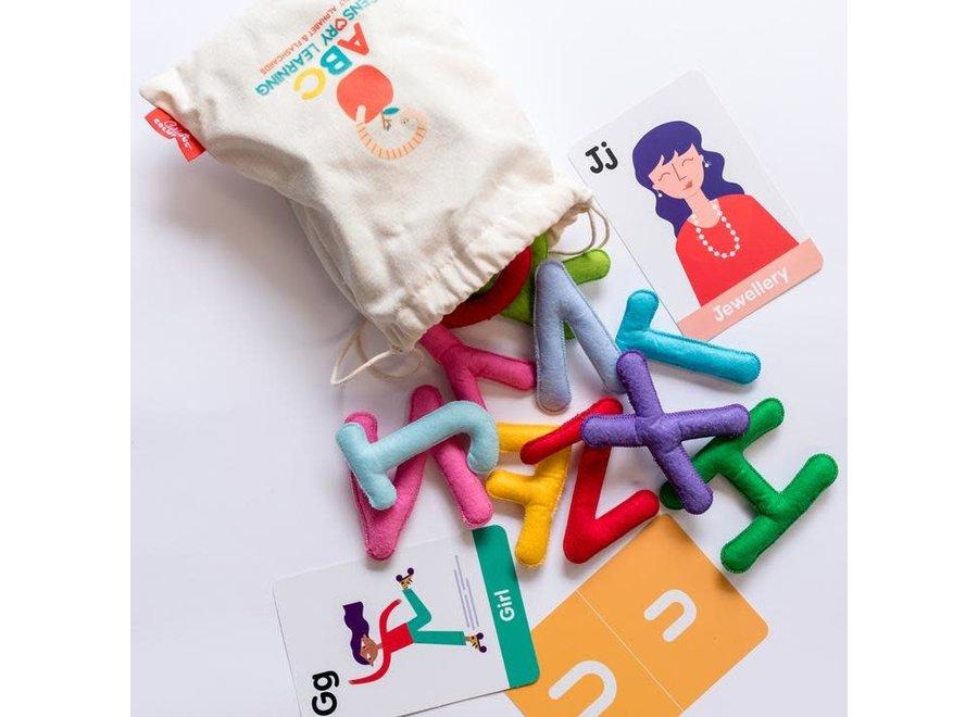 ABC Uppercase Felt Alphabet & Flashcards